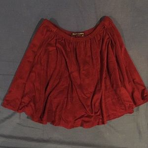 BRANDY MELVILLE Faux Suede Mini Skirt
